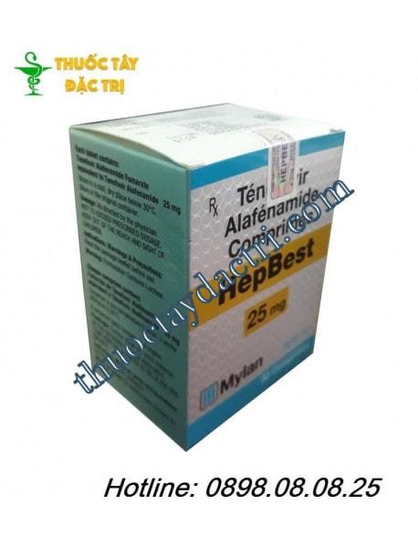 Thuốc đặc trị viêm gan B HepBest 25mg hàng công ty