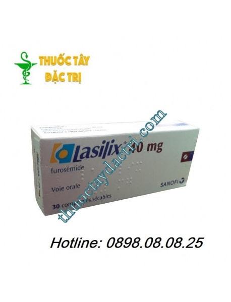 Thuốc lợi tiểu Lasilix 40mg hộp 30 viên