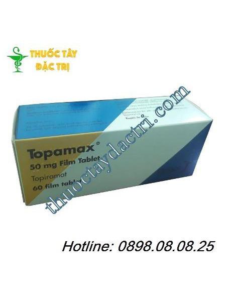 Thuốc điều trị động kinh Topamax 50mg hộp 60 viên