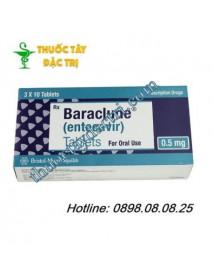 Thuốc đặc trị viêm gan B Baraclude 0.5mg hộp 30 viên