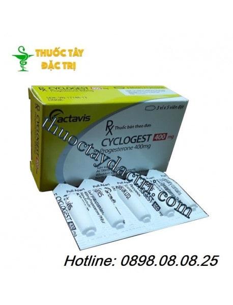 Thuốc đặt dưỡng thai Cyclogest 400mg