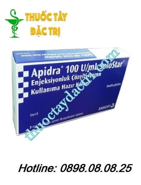Bút tiêm Apidra SoloStar 100 UI / ml hộp 5 ống