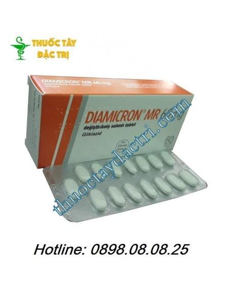 Thuốc hạ đường huyết Diamicron MR 60mg