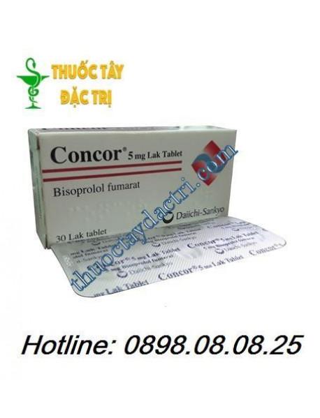 Thuốc trị suy tim Concor 5mg hộp 30 viên