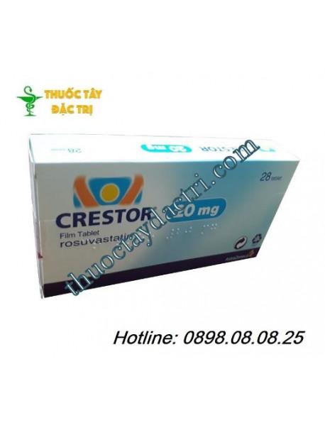 Thuốc điều trị mỡ máu cao Crestor 20mg